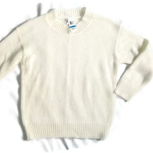 bar III Ivory Mohair Sweater. NWT. XL